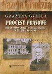 Książka Procesy prasowe redaktorów Gazety Grudziądzkiej w latach 1894-1914