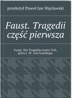 Książka Faust. Tragedii część pierwsza